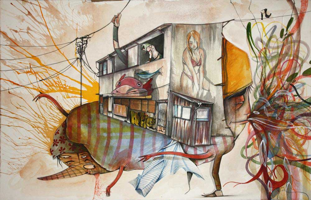 Gosha Levochkin: Cluster Mess @ Hold Up Art