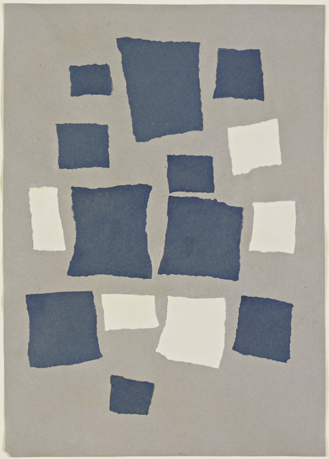 Un Led Collage With Squares Arranged According To The Laws Of Chance Jean Arp