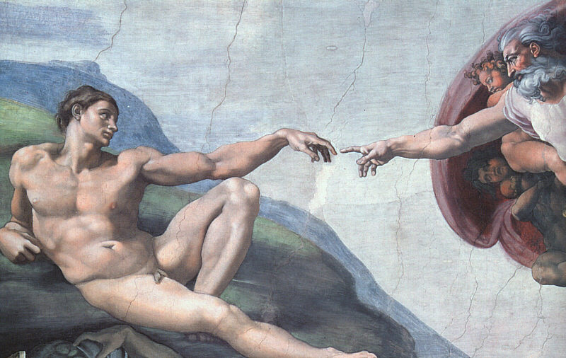 The Creation of Man-Sistine Chapel-Michelangelo- 1508-12