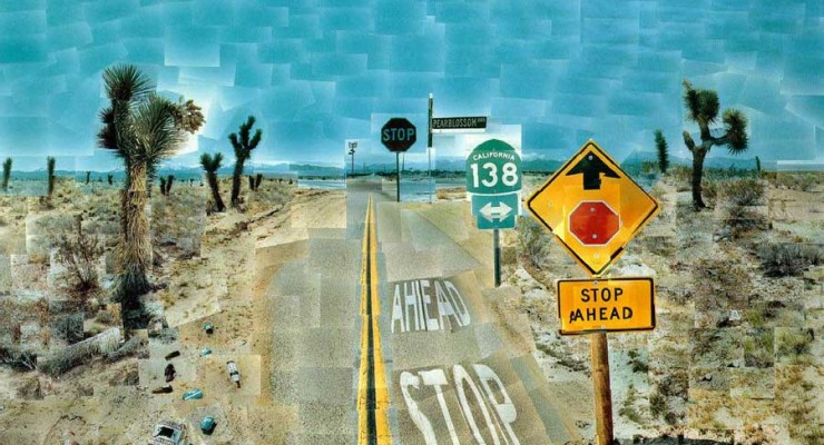David Hockney Pearblossom Highway 1986