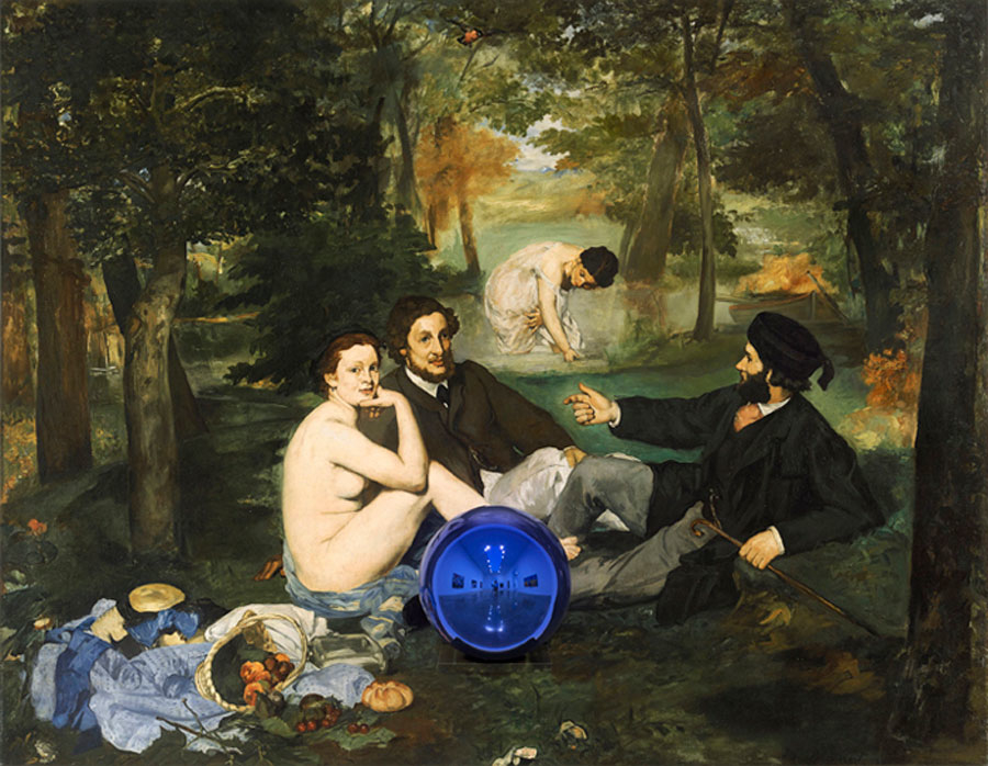 Jeff Koons - Gazing Ball - Manet Luncheon on the Grass - 2014-15jpg